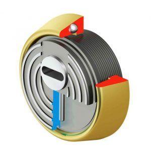 Escudo de alta seguridad DISEC BD280 contecnología Rok que consiste en un rotor reforzado de acero manganesopara una máxima protección de las cerraduras y cilindros. El escudo, DISEC BD280 Serie ROK da una alta protección a los bombines o cilindros contra los actuales métodos de robo y las herramientas que se emplean. Tiene elcertificado de seguridad EN1906 Clase 4.