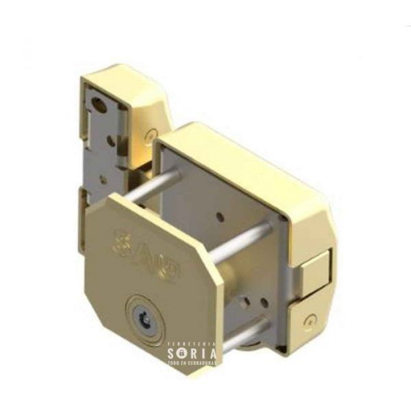 placa reforzada SAG para cerrojo SAG instalada