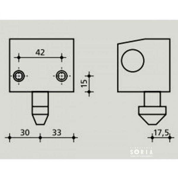 cb-30 medidas keymat cerradura para puerta metalica enrrollable