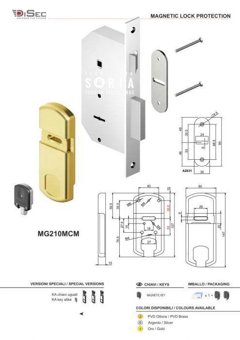 Escudos para proteger cerraduras de gorjas DISEC MG 210 MCM