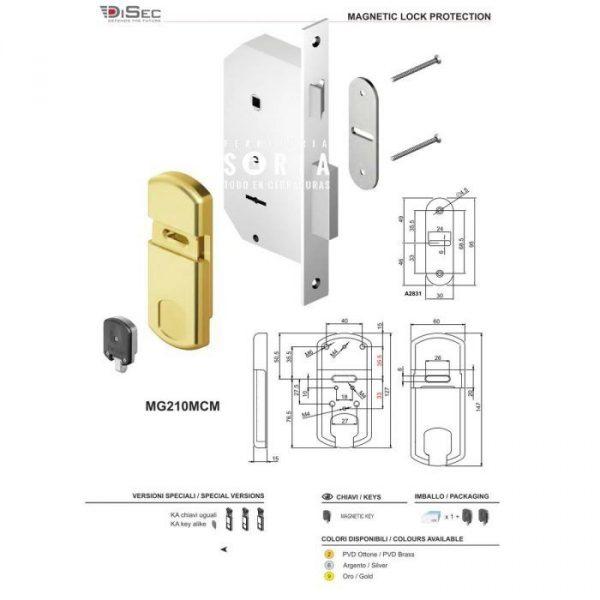 escudo-protector-magnetico-cerradura-gorja-mg210mcm-disec medidas