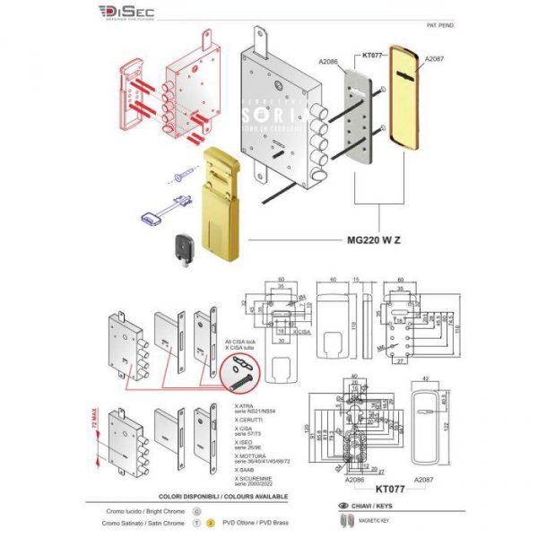 escudo-protector-magnetico-cerradura-gorja-mg220 W Z medidas1