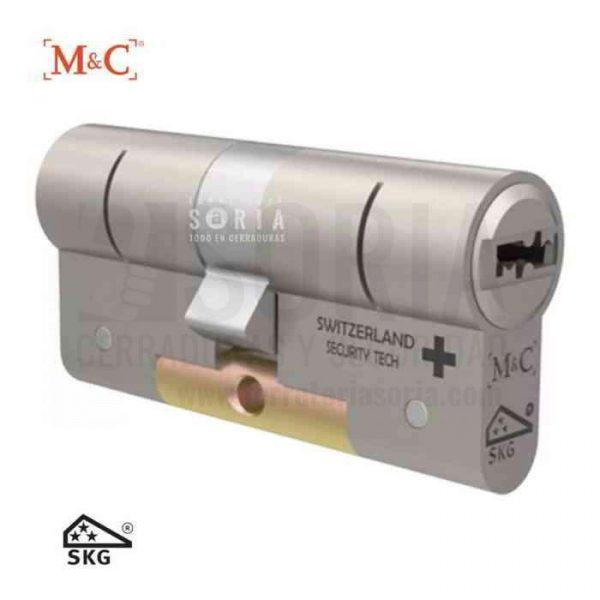 bombin de seguridad Cilindro de seguridad antiumping antiimpresioning modular condor plata