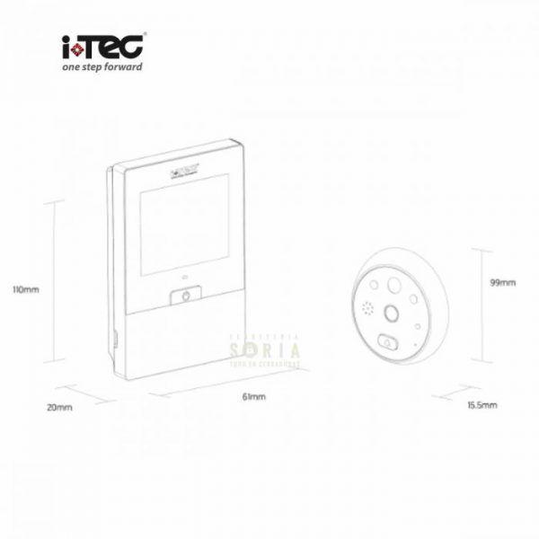 Mirilla digital iViewer 06 v2.0 I-TEC medidas