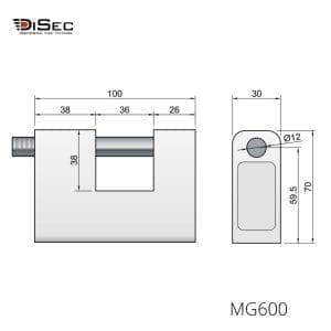Candado alta seguridad magnética MG600 DISEC