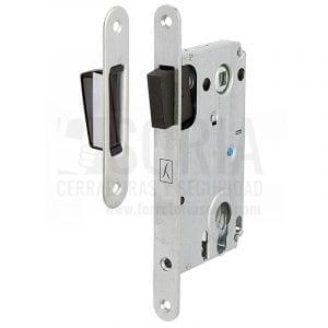 Cerradura Magnética metálico Cromo Satinado Cilindro A 85mm