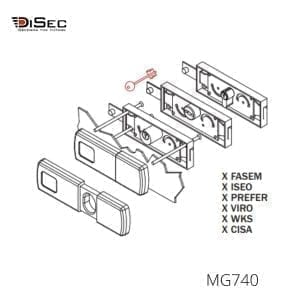 Escudo magnético persiana enrrollable MG740 DISEC