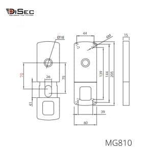 Escudo magnético puerta basculante MG812 DISEC