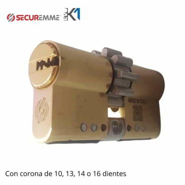 Cilindro EVO K1 Securemme con corona