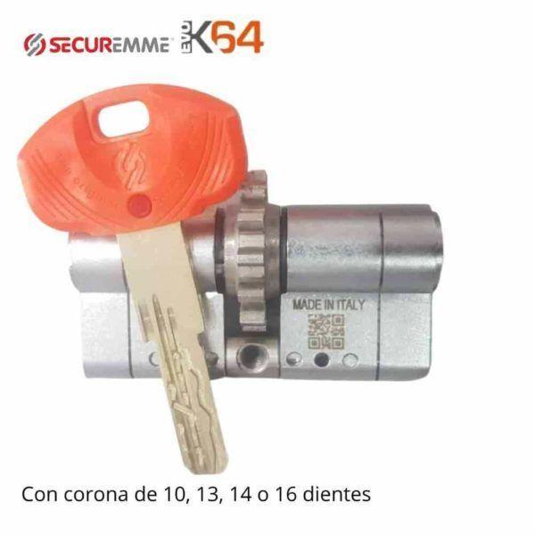 Cilindro EVO K64 Securemme con corona