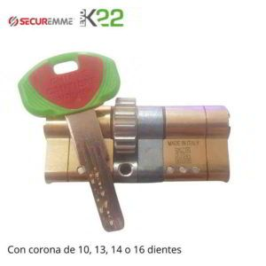 Cilindro EVO K22 Securemme con corona
