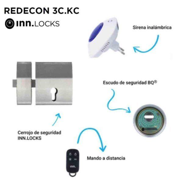 Cerrojo de seguridad REDECON 3C KC