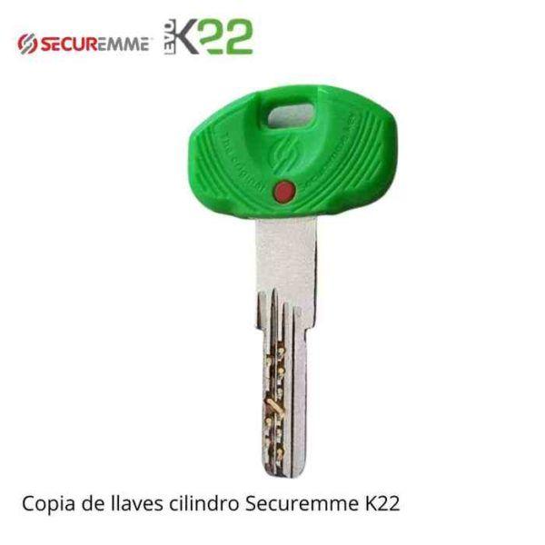 Copia llave cilindro securemme evo k22