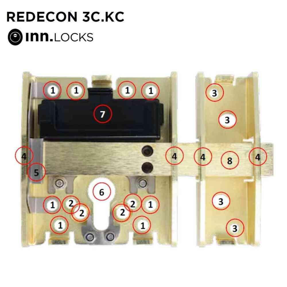 instalacion cerrojo redecon 3c kc